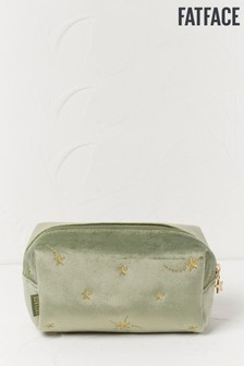 FatFace Green Star Embroidered Wash Bag