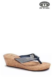 Animal Blue Susie Cork Wedges