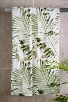 Ręczniki z nadrukiem liści