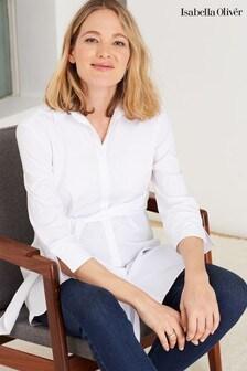 Isabella Oliver White Kelly Maternity Shirt