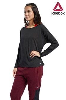 חולצת טי ארוכה שלReebok למידות גדולות דגםWorkout Ready Supremium