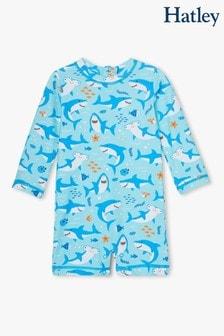 Camiseta protectora de una sola pieza de bebé Shark Party deHatley