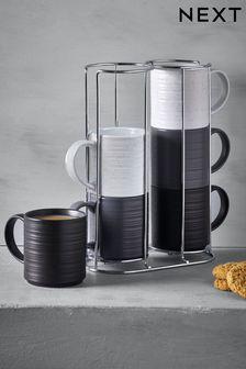 Set of 6 Bronx Stacking Mugs