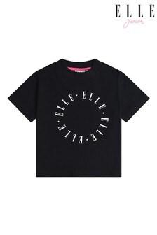 Elle Black Boxy T-Shirt