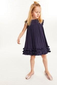 Gerüschtes Kleid aus Satin (3-16yrs)