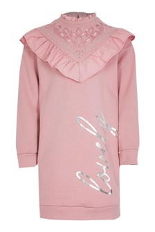 River Island Pink Dark Victoriana Sweat Dress