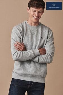 Crew Clothing Grey Baddesley Crew Sweatshirt