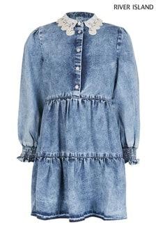 فستان أزرق دنيم للصبايا منRiver Island