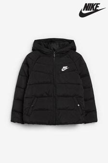 Nike - Giacca nera imbottita per bambini piccoli