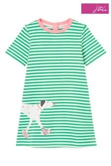 Joules Rosalee A-Linien-Kleid im künstlerischen Design, Grün