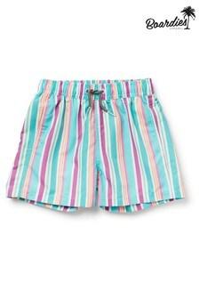 מכנסי שחייה קצרים באורך בינוני עם פסים של Boardies דגם Boys Rock
