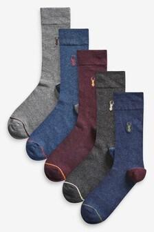 Pack de cinco pares de calcetines con rayas