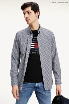 Tommy Hilfiger Blue Slim Soft Gingham Shirt