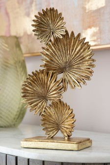 Gold Palm Leaf Sculpture