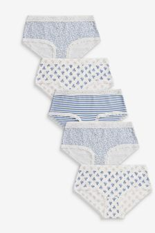 5 Pack Lace Floral Hipster Briefs (2-16yrs)
