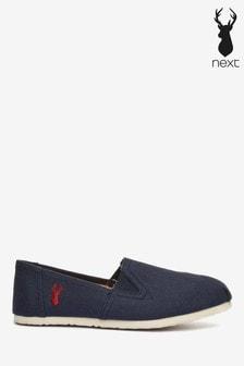 حذاء كتان سهل الارتداء نقش الغزال