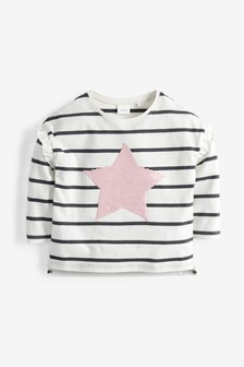 Flippy T-Shirt mit Pailletten (9Monate bis 7Jahre)