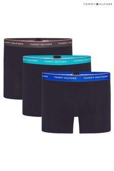 Lot de 3 boxers Tommy Hilfiger noirs essentiels de qualité supérieure