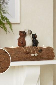 Подставка для греющих свечей с мишками Bertie