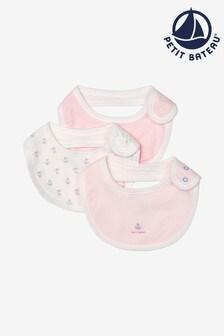 Petit Bateau Pink Bibs Three Pack