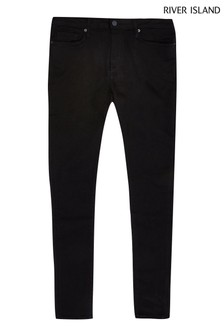 River Island Black Crow Spray On Skinny Jeans