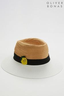 Oliver Bonas白色/黑色檸檬紳士帽