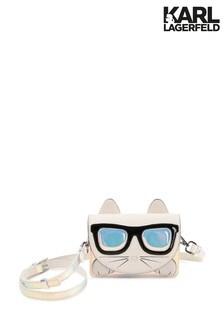 Karl Lagerfeld Grey Cat Crossbody Bag