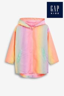 Gap Ombre Rainbow Rain Jacket