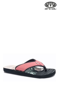 Animal Black Swish Beach Flip Flops