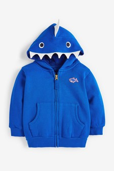 Shark Zip Through Hoodie (3mths-7yrs)