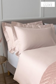 Set of 2 Blush Pink Collection Luxe 400 Thread Count 100% Egyptian Cotton Pillowcases