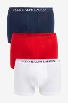 Polo Ralph Lauren® Stretch Cotton Trunks Three Pack