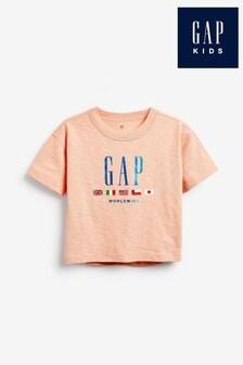 Broskyňové tričko Gap s logom