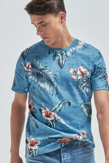 Floral Print Regular Fit T-Shirt