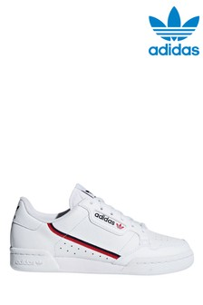 adidas Originals White Continental 80s Youth Trainers