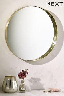 Gold Round Wall Mirror