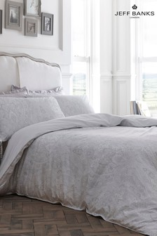 Jeff Banks Silver Pour la Maison Toulouse 200 Thread Count Duvet Cover and Pillowcase Set
