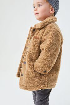 Мягкая куртка из искусственного меха (3 мес.-7 лет)