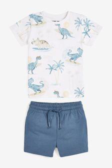 Printed T-Shirt And Shorts Set (3mths-7yrs)
