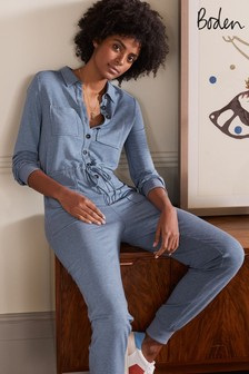 Boden Blue Utility Jersey Jumpsuit (A01652) | $136