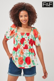 F&F Multi Floral Co-ord Top