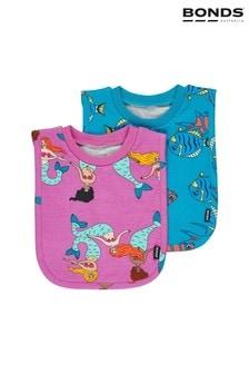 حزمة من2 مريلة وردي عروس البحر/أسماك أزرق على أخضر منBonds