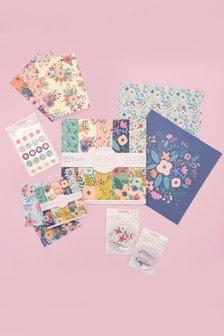 Set of 6 Violet Studio Floral Themed Paper Craft Kit