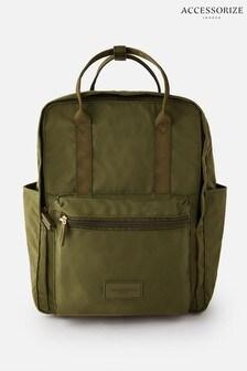 Зеленый парусиновый рюкзак Accessorize Frida