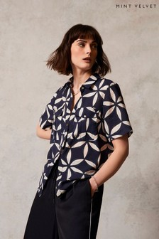 חולצת שרוול קצר של Mint Velvet דגם Eva עם הדפס