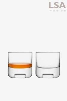 LSA International Cask Whisky 240ml Set of 2 Tumblers