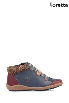 Loretta Navy Ladies Ankle Boots