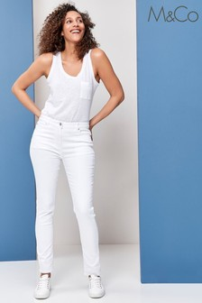 M&Co White Supersoft Slim Jeans