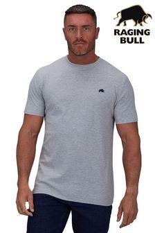 Raging Bull灰色有機棉特色款T恤