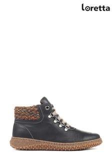 Черные женские кожаные ботинки Loretta